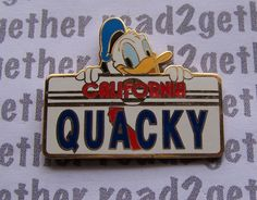 Disney Pin DLR Donald California License Plate Series Quacky | eBay