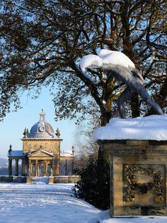 Castle Howard Temple and Statue