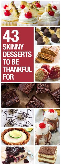 Skinny desserts you'll love :) Pin now, check later.