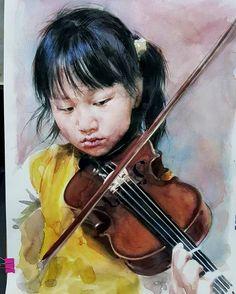 "My friend""s daughte""r watercolor on paper  #artwork #art #artist #watercolor #aquarelle #draw #drawing #markers #painting #sketch #pencil #illustration #korea #korean"