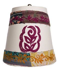 Look at this Boho Paisley Flower Embroidered Lamp Shade by Karma Living