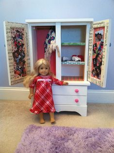 Etonnant DIY American Girl Armoire