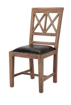 IMAX Becka Wood and Leather Dining Chair