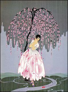 Erté, 'Blossom Umbrella,' Art Deco