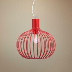 "Caycee 14"" Wide Red Modern Pendant - #2T098 | LampsPlus.com"