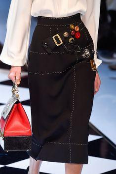 Dolce & Gabbana at Milan Fall 2016 (Details)