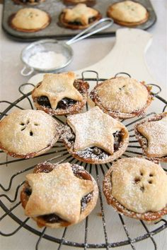Mince Pies~ my Christmas hasn't started without one!  A mince pie, also known as minced pie, is a small British sweet pie traditionally served during the Christmas season. Its ingredients are traceable to the 13th century, when returning European crusaders brought with them Middle Eastern recipes containing meats, fruits and spices.