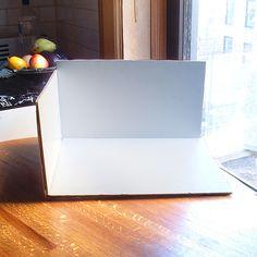 Creating a white background inside a cardboard box