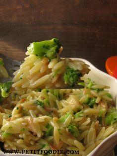 cheddar broccoli orzo www.petitfoodie.com