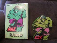 Vintage The Incredible Hulk Radio in Original Box Nice for Display Super Hero | eBay