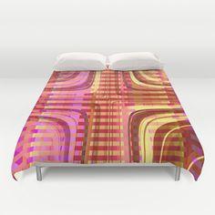 Pattern pink 2 Duvet Cover by Christine baessler - $99.00
