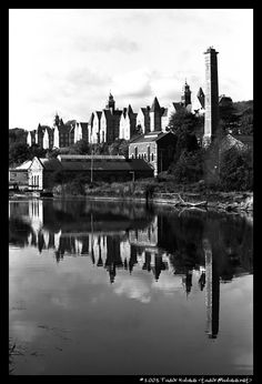 Reflection in the Lee river, Cork, Ireland