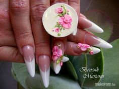French with pink flowers