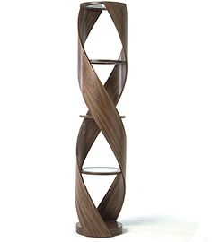 Who knew how inspirational a strand of DNA could be?  Double helix shelf design by Tom Schneider