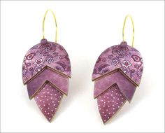 Jewelry-Earrings-SHARON MACLEOD : Rose Bud Earrings with Vintage Floral Pattern