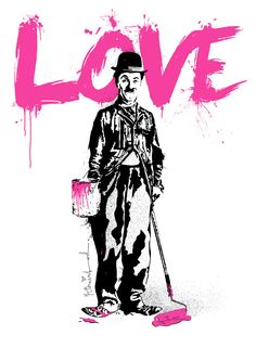 Created in this print goes back to Mr Brainwash's pop art roots with a beautiful tribute to Charlie Chaplin. Mr Brainwash's studio printing quality and impeccable detail really shines through in this amazing print! Arte Banksy, Banksy Art, Bansky, Famous Graffiti Artists, Street Artists, Charlie Chaplin, Art Pop, Mr. Brainwash, Grafik Art