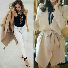 """HP Gorgeous Camel Belted Trench Coat Duster """"Style Obsession Party"""" Host Pick 2/3/16  Gorgeous Belted Trench Coat Duster   Camel Waterfall collar  Belted Super soft, warm & cozy  100% Polyester  Hand Wash, Machine Wash or Dry Clean  Fits Size S/M  * Measurements   - Shoulder: 16""""  - Sleeve: 24.2""""  - Bust: 39""""  - Length: 35.5""""  New in package   ▪  No Trades  ▪  Fast Shipping IT Ragazza  Jackets & Coats Trench Coats"""