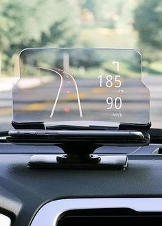 The heads-up display allows you to look at data on your windscreen and you can return calls or send text messages through voice commands. A great way of avoiding fumbling for your phone so you can kee