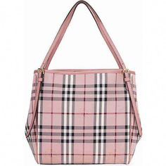 0621fb70d0eb Burberry Small Canter Horseferry Check Tote - Ash Rose   Dusty Pink ( 795) ❤