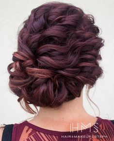 Love the hair color Wedding Hair And Makeup, Bridal Hair, Hair Makeup, Love Hair, Gorgeous Hair, Fancy Hairstyles, Wedding Hairstyles, Wedding Updo, Bridesmaid Hair