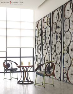 Phillips Collections Bicycle Collection is made of recycle bicycle parts.                                                                                                                                                     More