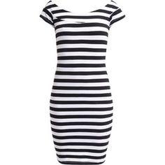Even&Odd Sukienka z dżerseju black/white