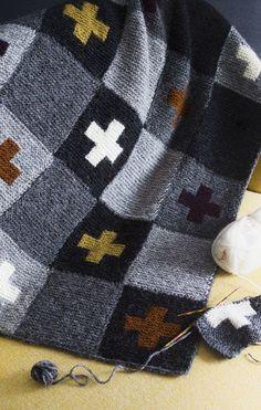 Neulo torkkupeitto islantilaisella intarsialla - Kotiliesi.fi Plaid Scarf, Knitting Patterns, Knit Crochet, Projects To Try, Quilts, Blanket, Crafts, Helsinki, Afghans