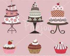 Vector of Vintage vector dessert menu with cherry cream cake