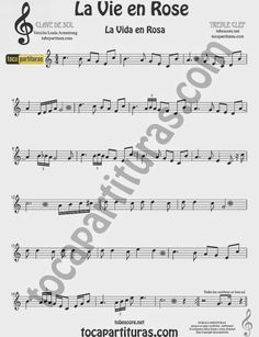 La Vida es Rosa Partitura de Oboe La Vie es Rose sheet music for Oboe Free Violin Sheet Music, Trumpet Sheet Music, Saxophone Sheet Music, Violin Music, Teaching Orchestra, Music For Kids, Music Lessons, Music Notes, Orchestra