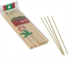 Yakitori Gushi BBQ Bamboo Skewers 100pcs 6in #T006 by JapanBargain. $0.69. * 100 Bamboo Skewers* Material: Natural Bamboo* Dimension: 6in Long. Thin, Smooth-pointed bamboo Skewers. Used for barbecues, or simply for holding ingredients together while cooking. * 100 Bamboo Skewers * Material: Natural Bamboo * Dimension: 6in Long