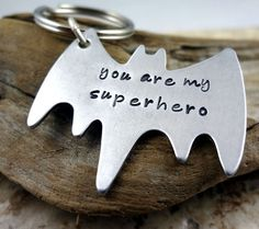 Hey, I found this really awesome Etsy listing at https://www.etsy.com/listing/166001243/superhero-key-chain-hand-stamped-silver