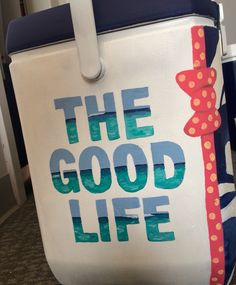 The good life Vineyard Vines painted cooler