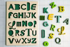 Font Alphabet Puzzle van looodus op Etsy