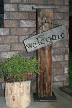 Rustic Welcome Sign!! Front Porch Decor:) by estela