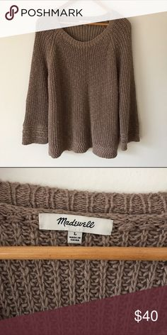 Madewell archway pullover sweater Super comfy, swingy, 3/4 length sleeved sweater, perfect for the cold seasons, and in great condition! Madewell Sweaters
