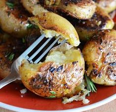 Garlic Herb Potatoes - these are really delicious but mine did NOT look anything like these. Mine were more like fried mashed potatoes. (CLE note)