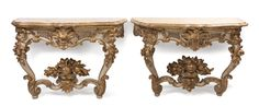 A Pair of Italian Baroque Console Tables.