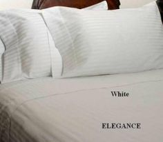 "ELEGANCE HOMESPELL Egyptian Cotton 1000 Thread Count 3 - Pc Sateen Stripe Duvet Cover White Queen. by Homespell. $79.99. 100% Egyptian Cotton. Full/Queen set measures 90"" W x 92"" L and includes two standard shams 20x26"" each.. ELEGANCE HOMESPELL 1000 thread count duvet cover. Machine Wash. Made In Egypt.. Machine wash cold or warm, tumble dry on low.. Woven from 100% Egyptian cotton, which is the world s finest cotton this exquisite duvet cover set, has a 1000 T..."