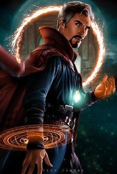 Avengers - Marvel The Marvel Cinematic Universe is an American media franchise and shared universe that is centered on a series of superhero films, independently produced by Marvel Studios # DoctorStrange Marvel Comic Universe, Marvel Dc Comics, Marvel Heroes, Marvel Cinematic Universe, Captain Marvel, Captain America, Marvel Fanart, Marvel Films, Marvel Characters