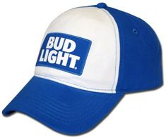 b46f32211ee Lightweight Bud Light cap. Adjustable with patch on the front. Bud Light