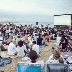 Cinema Lliure a la Platja #Barcelona