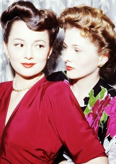 """""""I married first, won the Oscar before Olivia did, and if I die first, she'll undoubtedly be livid because I beat her to it!"""" - Joan Fontaine"""