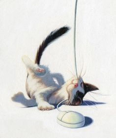 8 WHIMSY - Small creatures antics in the corner suggest a bit of fun and humor ---- by James Bennett -- Cat got your mouse? (Diane Gronas)