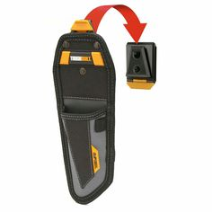 The ToughBuilt® Lineman's Knife Pouch transforms how professionals carry their knife. The patented ClipTech™ Hub™ allows this pouch to clip on and off any belt. Works great alone, or combined with any ClipTech tool belt. Tool Belt Pouch, Pouch Bag, Belt Storage, Tool Storage, Biker Jeans, Lineman, Golf Bags, Street Style Women, Sling Backpack