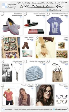 Socially Responsible Gift Guide for Women (via ShopWithMeaning.org).