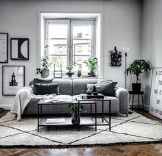 33 Amazing Grey White Black Living Room Decor Ideas And Remodel. If you are looking for Grey White Black Living Room Decor Ideas And Remodel, You come to the right place. Here are the Grey White Blac. Living Room Green, My Living Room, Living Room Interior, Living Room Furniture, Black White And Grey Living Room, Living Room Decor Grey Walls, Living Room Color Schemes, Living Room Designs, Design Salon