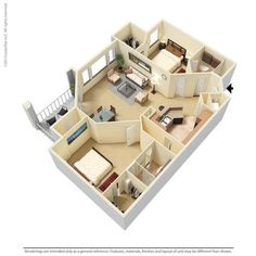 Our 2 br, 2 ba Stansbury floor plan is 1228 sq. ft