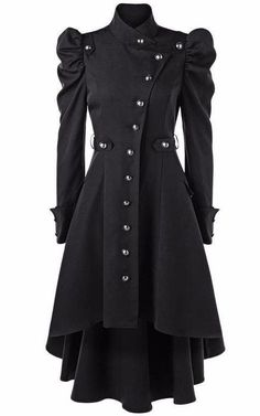 cc25a14a2ae Dark Puff Shoulder Button Up Coat  Pantiescamels Best Winter Coats