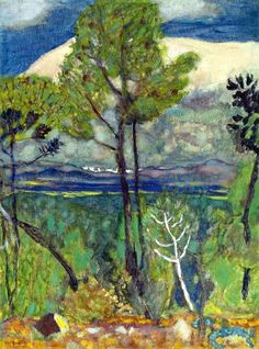 Pierre Bonnard (1867-1947)  Les pins, bord de mer oh I miss the wonderful work, used to have a copy in my office