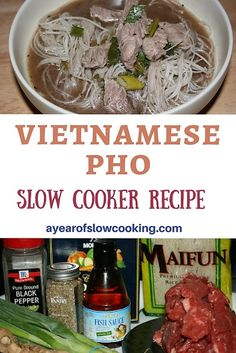 How to make homemade Vietnamese Pho in the crockpot slow cooker.